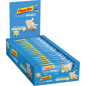PowerBar Clean Whey Boîte de barres 18x45g, Vanilla Coconut Crunch